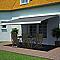 Store de terrasse coffre intégral motorisé Blooma avec LED cendre 4 x 3m