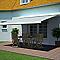 Store de terrasse coffre intégral motorisé BLOOMA avec LED Pure vert 4 x 3m