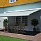Store de terrasse coffre intégral motorisé BLOOMA avec LED Pure vert 5 x 3m