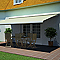 Store de terrasse coffre intégral motorisé BLOOMA avec LED latte 5 x 3m