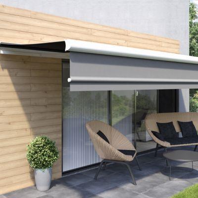 Store de terrasse semi coffre motorisé lobas gris 5 x 35m castorama