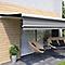 Store de terrasse semi-coffre motorisé Lobas gris 5 x 3,5m