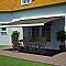 Store de terrasse coffre intégral motorisé Blooma avec LED cappuccino 4 x 3m