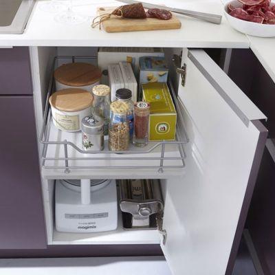 tiroir coulissant melton 40 cm castorama. Black Bedroom Furniture Sets. Home Design Ideas