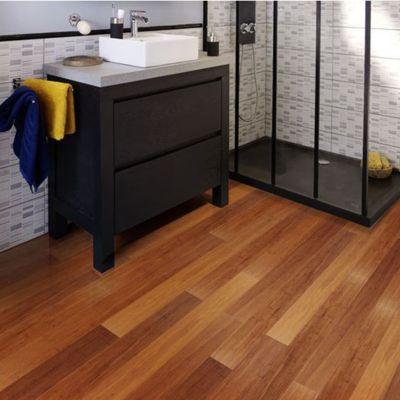 Revêtement de sol bambou Colours Clic 12,5 x 91,5 cm (vendu à la ...