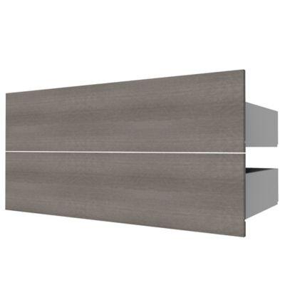2 tiroirs couvrants chêne cendré Form Darwin 100 cm