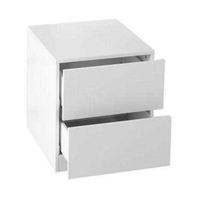 2 tiroirs couvrants blanc form darwin 50 cm castorama. Black Bedroom Furniture Sets. Home Design Ideas