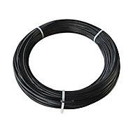 Fil de tension plastifié noir ø2,7 mm L.50 m