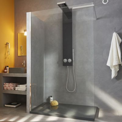 paroi de douche fixe cooke lewis kasari transparente 120 cm castorama. Black Bedroom Furniture Sets. Home Design Ideas