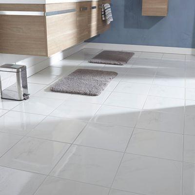 Carrelage Sol Et Mur Blanc 33 X 33 Cm Carrara (vendu Au Carton)   Castorama.