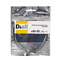 Collier de serrage Diall inox L8 x ø62 - 82 mm