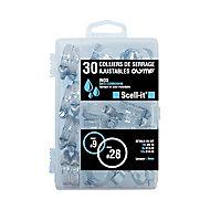 Coffret de 30 colliers de serrage inox Diall ø28 mm