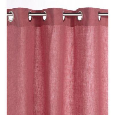 Rideau Colours Odessa Lin Lavé Rose 140 X 250 Cm Castorama