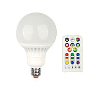 Ampoule LED E27 Globe 3en1 Veezio 13W=60W RGB + Blanc Chaud