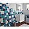 Carrelage mur bleu touareg 15 x 15 cm Glossy