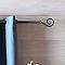 Ensemble barre à rideaux extensible COLOURS Natia noir 155/280 cm