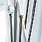Ensemble barre à rideau extensible Colours Facet chrome 120/210 cm