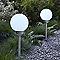 2 bornes extérieures solaires Blooma Galton blanc 2 x 0,06W