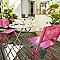 Table de jardin saba anthracite pliante ø70 cm