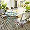 Table de jardin saba vert paon pliante ø70 cm
