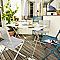 Chaise de jardin saba vert paon pliante