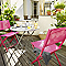 Chaise de jardin saba rose shocking pliante