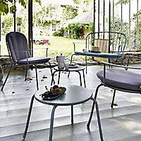 Table basse de jardin en métal Gloria vert phenix 55 x 55 cm