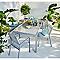 Galette de chaise carrée Tiga baobab 40 x 40 cm