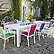 Table de jardin en aluminium Batang 205/335 x 101 cm blanc