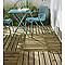 Fauteuil de jardin en métal Chiva aqua sea