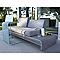 Sofa en métal Chiva gris avec coussins