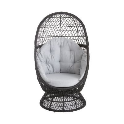 fauteuil oeuf de jardin effet rotin anya castorama. Black Bedroom Furniture Sets. Home Design Ideas