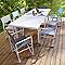 Table de jardin en aluminium Batang 184/243 x 100 cm blanc