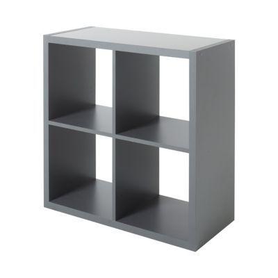 Etagere Modulable 2 Cubes Coloris Gris Mixxit Castorama