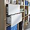 Bloc porte blanc 2 tiroirs Mixxit 33 x 33 cm