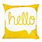 Coussin Dolos Hello jaune 43 x 43 cm