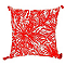 Coussin Limos palm orange 50 x 50 cm