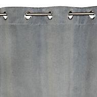 Rideau Colours Beaulieu aspect velours gris clair 140 x 240 cm