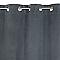 Rideau COLOURS Beaulieu aspect velours gris foncé 140 x 240 cm