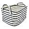 Panier rectangulaire tissu gris avec anse COOKE & LEWIS Malo