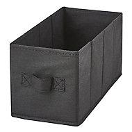 2 boîtes de rangement rectangulaires en textile Mixxit coloris noir