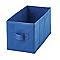 2 boîtes de rangement rectangulaires en textile Mixxit coloris bleu