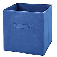 Boîte de rangement carrée en textile Mixxit coloris bleu