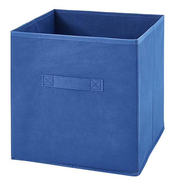 Boite De Rangement Carree En Textile Mixxit Coloris Bleu Castorama