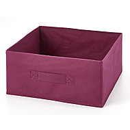 Boîte de rangement rectangulaire en textile Mixxit coloris cerise