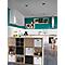 Étagère modulable 6 cases décor coloris chêne Mixxit