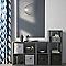 Boîte de rangement carrée en feutrine Mixxit coloris noir