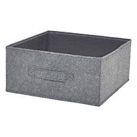 Boîte de rangement rectangulaire en feutrine Mixxit coloris noir