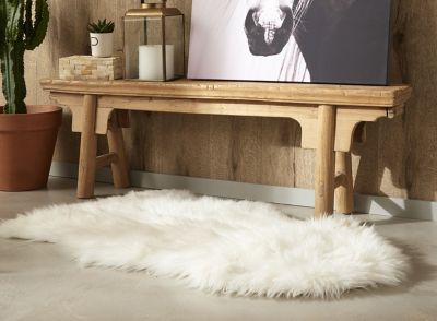 Tapis Mouton Blanc X Cm Castorama - Carrelage terrasse et tapis pied du lit
