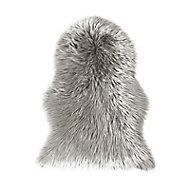 Tapis Mouton gris 60 x 90 cm